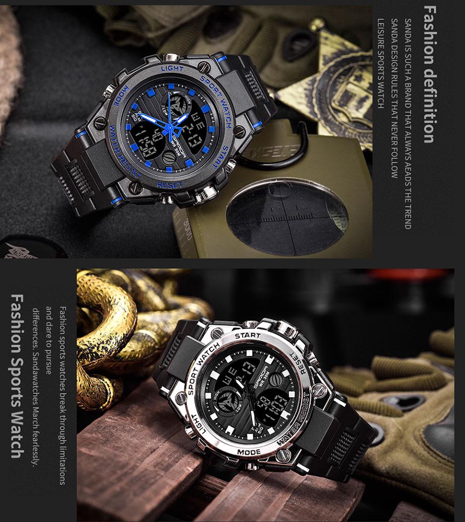 analógico digital led eletrônico quartzo relógios de