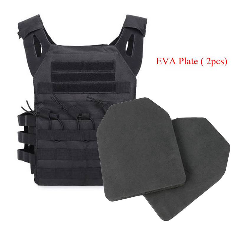 Tactical JPC Vest EVA Foam Plate 2 PCS Hunting Vest Carrier Plate Airsoft Paintball Game Body Armor Military Gear