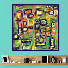 Wall Art Colorful Circle Abstract Oil Painting on Canvas Picture for Living Room Posters And Prints frameless