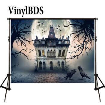 VinylBDS Fotografie Hintergrund Kinder Foto Hintergrund Halloween Hintergrund Hintergrund Fotografie Neugeborenen Haus Wald Hintergrund