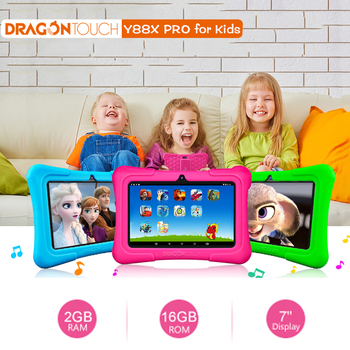 Dragon Touch Y88X Pro 7 '' HD Display Kids Tablet For Children 2GB+16GB Quard-Core Android 9.0 With Tablet Pocket Wifi Tablet PC