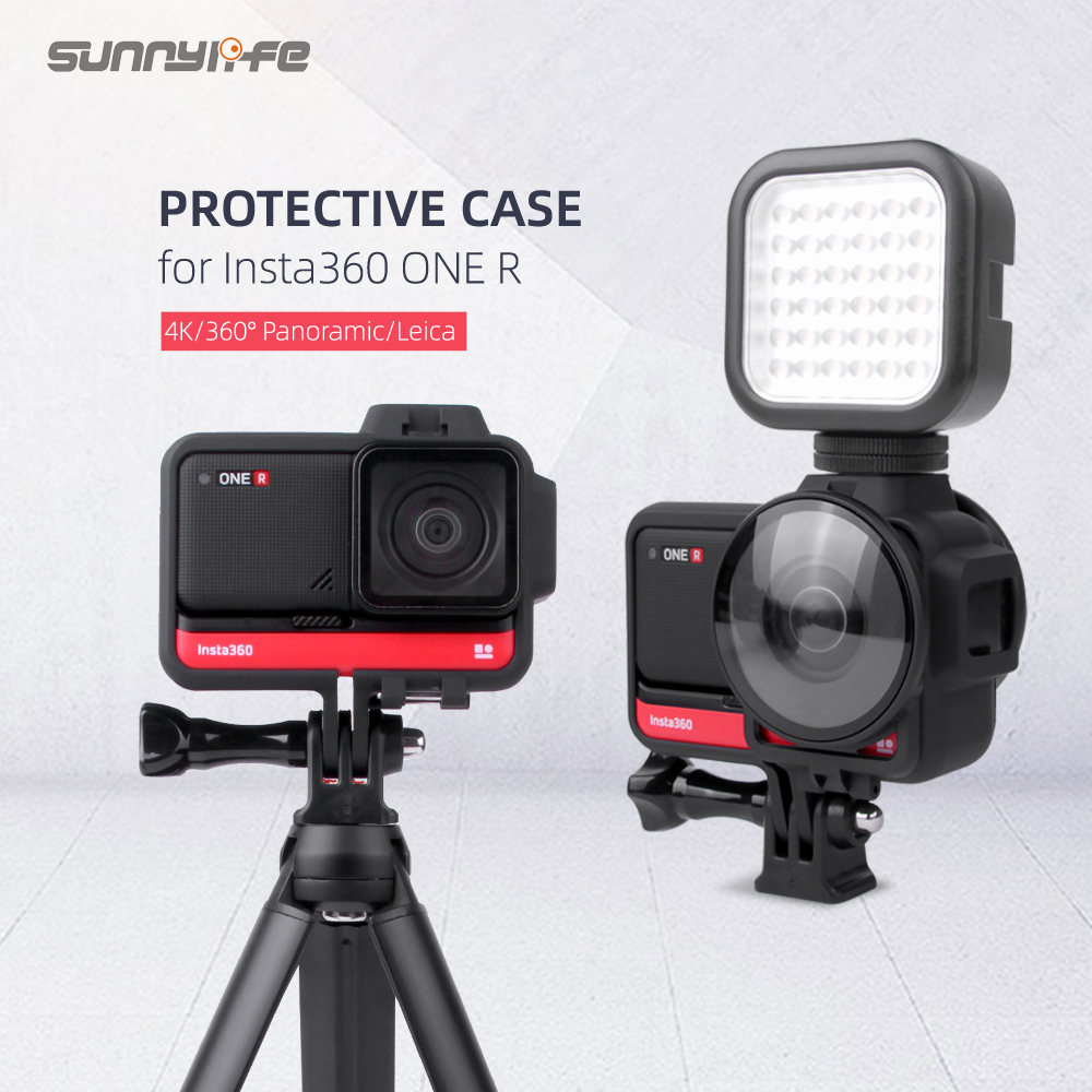 Sunnylife Protective Case Frame Housing Border Lens Cover Guards  Protector For Insta360 One R Panorama Dual-Lens Sports Camera