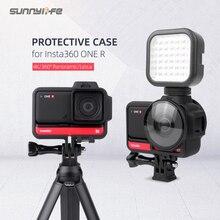 Sunnylife koruyucu kılıf çerçeve konut sınır Lens kapağı muhafızları koruyucu Insta360 bir R Panorama çift Lens spor kamera