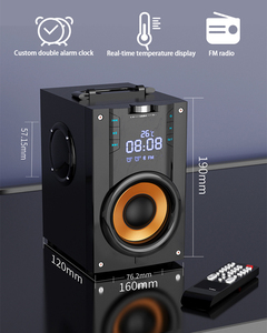 Image 5 - 2200mAh 4.2 Wireless Bluetooth Speaker Outdoor LED Display 3D Surround Stereo Subwoofer Player Radio Alarm Clock TF FM AUX Card