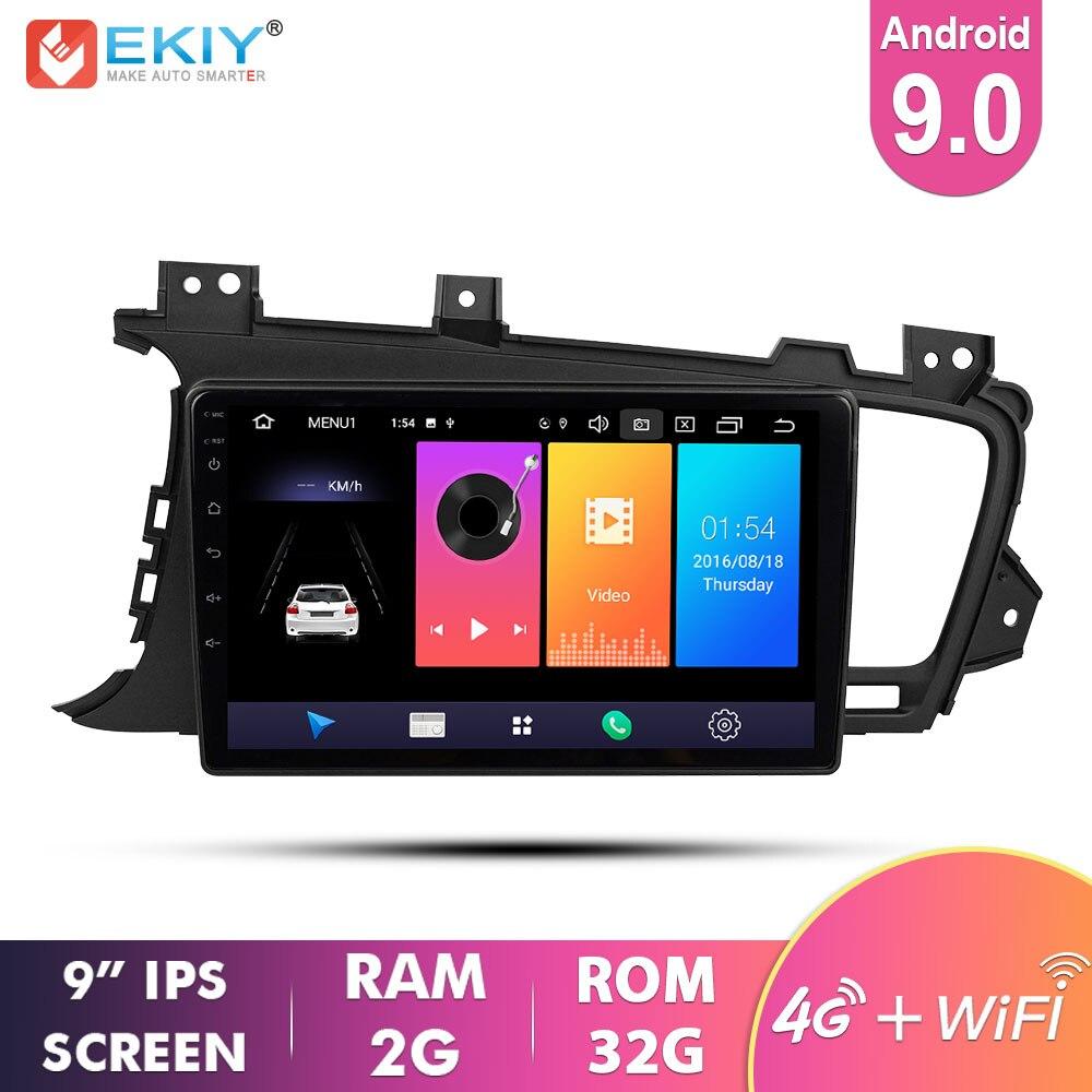 EKIY 9 ''IPS Android 9,0 не 2 Din Автомобильный мультимедийный плеер Авто Радио стерео аудио для KIA K5 2009-2015 GPS навигация 4G Модем