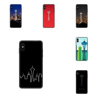 For Xiaomi Mi Note A1 A2 A3 5 5s 6 8 9 10 SE Lite Pro Ultra TPU Print Phone Seattle Space Needle image