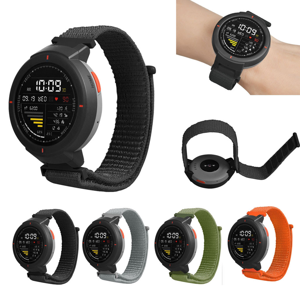 Replacement Nylon Watchband For Huami Amazfit Verge Watch Sport Loop Wrist Band Strap Smart Watches Bands Easy To Install