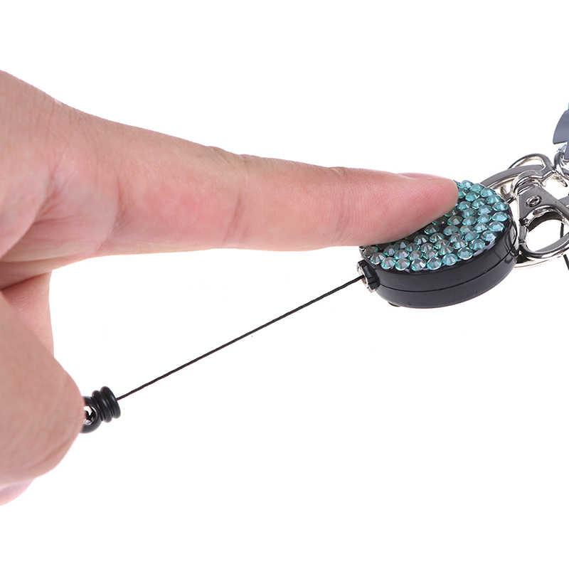 1 PC Lanyard Kristal Berlian Imitasi Ponsel Tali Leher Gantungan Kunci Berlian Imitasi Lanyard Lencana Reel