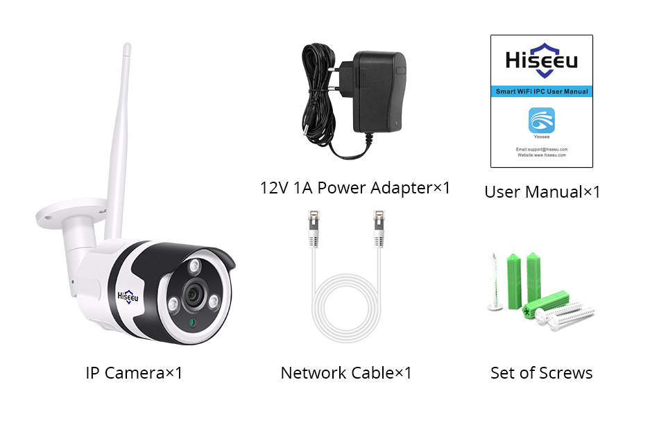 Hiseeu 2MP Wifi Waterproof Outdoor IP Security Camera 16