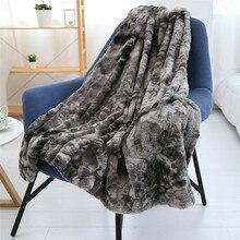 Super Soft Faux Fur Throw Blanket Fuzzy Light Weight Luxurious Cozy Warm Fluffy Plush