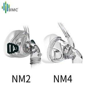 Image 3 - BMC NM2/NM4 האף מסכת CPAP מסכת שינה מסכה עם כיסויי ראש S/M/L שלושה גודל מתאים עבור CPAP מכונת להתחבר צינור והאף