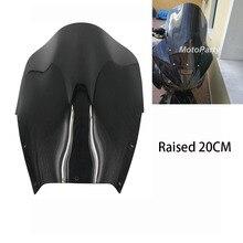Мотоциклов повышенных лобового стекла автомобиля лобового стекла поднятый 15 см/20 см для Yamaha TDM900 TDM 900 2002- 2007 2006 2005 2004 2003