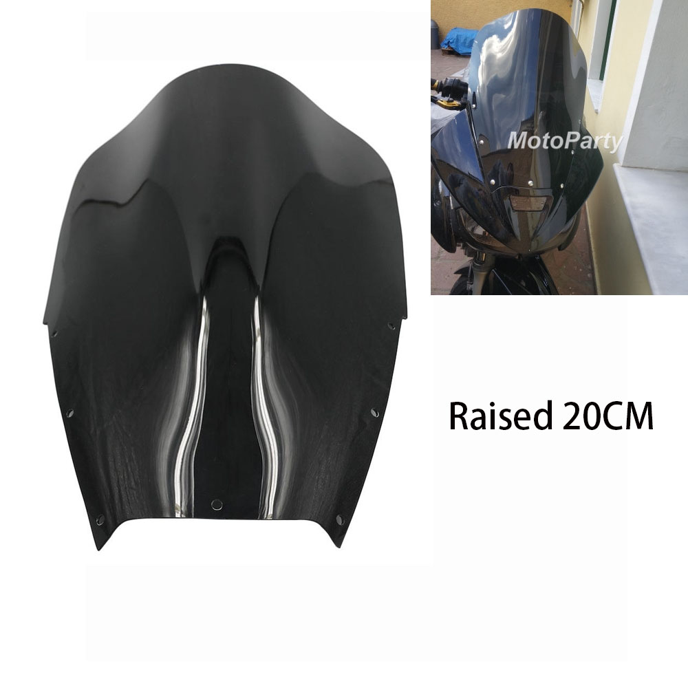 Motorcycle Elevated Windscreen Front Windshield Raised 15cm/20cm For Yamaha TDM900 TDM 900 2002 - 2014 2007 2006 2005 2004 2003