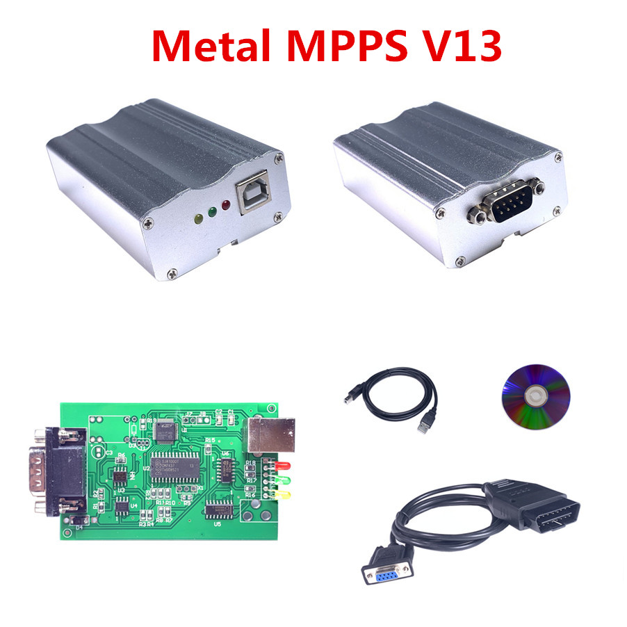 A + Quality SMPS MPPS V13.02 EDC16 Metal Box ECU Chip Tuning Tool MPPS Remap Chip Tuning CAN Flasher Car Diagnostic Scanner