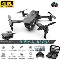 Mini Dron plegable profesional R16, 4K, HD, con cámara Dual, WiFi, FPV, estabilizador, helicóptero, juguetes, novedad de 2021
