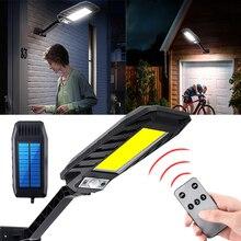 Светодиодный солнечный светильник Настенный светильник движения PIR Сенсор на открытом воздухе на солнечных батареях уличный светильник ...