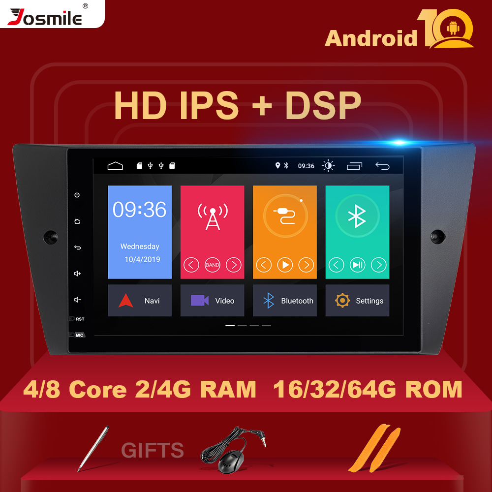 4G RAM IPS DSP 8 Core Auto Radio 1Din Android 10 Car Multimedia Player For BMW <font><b>E90</b></font>/E91/E92/E93 Navigation <font><b>GPS</b></font> Stereo Rear Camera image