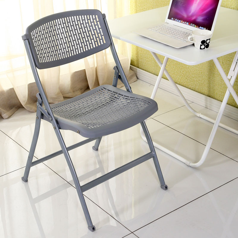 Folding Breathable Net Chair Plastic Simple Household Portable Outdoor Chair Simple Office Computer Chairs Dining Room Modern,W