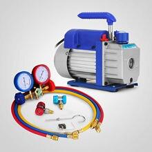 HODOY 3CFM 1/4HP вакуумный насос одноступенчатый фильтр для вентиляции и кондиционирования вакуумный насос для самостоятельного ремонта A/C набор чиллера(3CFM 1/4HP