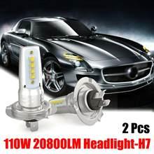 Ampoule H7 110w/10000lm, kit de Conversion, 2 pièces, blanc faible 6000k blanc 55w, haute qualité, pour voiture