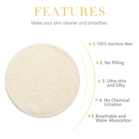 12Pcs/Set Reusable Make Up Remover Pads Washable Bamboo Cotton Puff With Laundry Bag Wipes Face/Eye Clean Facial Skin Care Tool 6