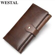 WETSAL 100% Genuine Leather Women Wallet Female Long Clutch