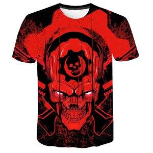 2020 мужская 3D футболка, летняя футболка с цифровой печатью в стиле панк, футболка с черепом, Популярная Игровая футболка, тонкие топы с короткими рукавами, футболка с изображением черепа