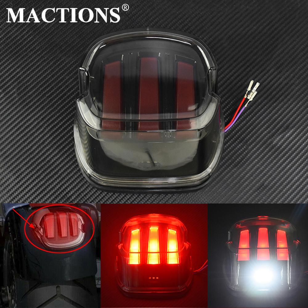 Motorcycle Red Brake Turn Signal Taillights License Plate LED Tail Light For Harley Touring Sportster XL883 1200 Dyna Softail