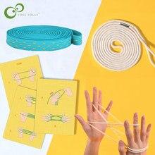 String Spel Kaarten Set Montessori Materialen Kat Cradle Kinderen Leren Educatief Speelgoed Kinderen Mideer Touw Hand Vinger Game Zxh