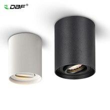 [DBF] มุมปรับพื้นผิวติดตั้งไฟLEDดาวน์ไลท์ 5W/7Wสีดำ/สีขาว + เปลี่ยนได้GU10 หลอดไฟLED Spot Light Decor
