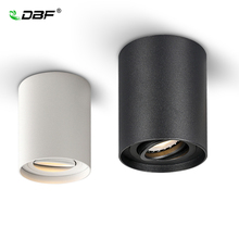 [Dbf] Hoek Verstelbare Led Opbouw Downlight 5W/7W Zwart/Witte Behuizing + Vervangbare GU10 Lamp Led Plafond Spot Light Decor