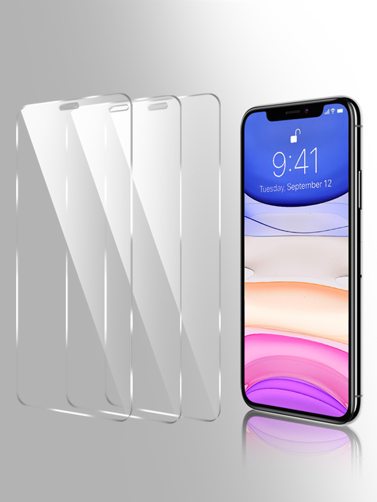 Protective Tempered-Glass-Film Curved-Edge Glass-On Full-Cover iPhone 11 Pro Max 3PCS
