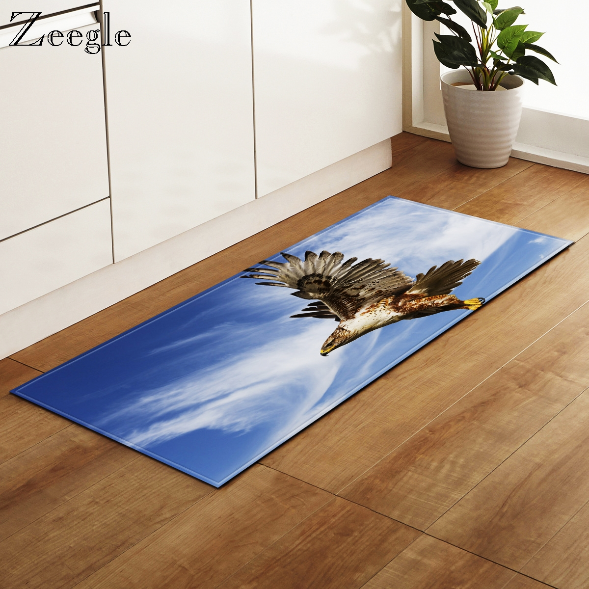 Zeegle Printed Eagle Rectangle Carpet Living Room Decoration Foot Rug Anti-slip Kitchen Mat Home Door Entrance Mat Modern Rug