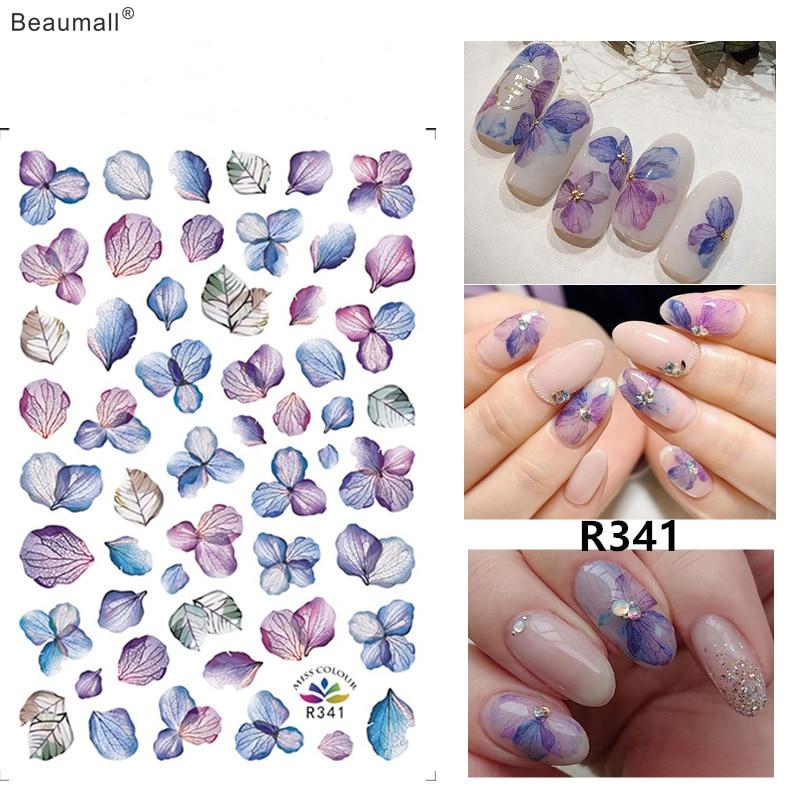 Цветочный дизайн лак для ногтей задний клей деколь декорации дизайн наклейки для ногтей советы по красоте