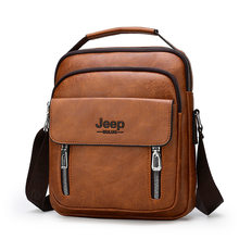 Genuine Leather Male's Crossbody Bag Casual Business Leather Men's Messenger Bag Vintage Men Big Bag Zipper Shoulder Handbags(China)