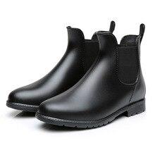 Men Rain boots man Chelsea boots male Ankle boots men Casual Boots Men rubber rain shoes Waterproof Best-selling style