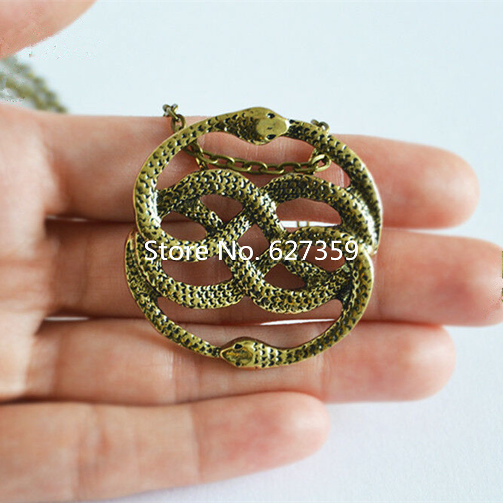 The Never Ending Story Style Auryn snake Pendant Necklace Retro 80s Movie Prop Jewlery(China)