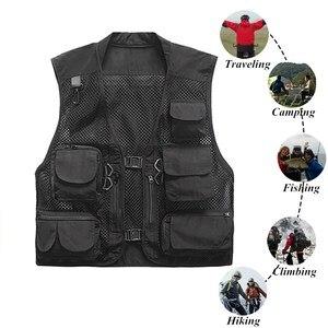 Image 1 - 초경량 낚시 조끼 빠른 건조 메쉬 전술 조끼 따뜻한 군사 캠핑 조끼 야외 남자 양복 조끼 멀티 포켓