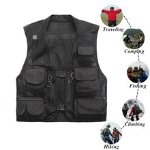 Ultralight Fishing Vest Quick Drying Mesh Tactical Vest Warm Military Camping Vest Outdoor Men Waistcoats with Multi Pocket