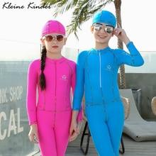 Детский купальный костюм, Цельный купальник для девочек и мальчиков, UPF50, защита от ультрафиолета, полное покрытие, детский водолазный костюм, костюм медузы, одежда для купания