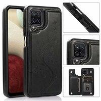 Mode Muster Leder Telefon Fall Für Samsung Galaxy S20 S21 Ultra S21 S20 FE S8 S9 S10 Zurück Abdeckung Retro karte Slot Halter Fall