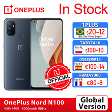 Versão global oneplus nord n100 4gb 64gb smartphone 90hz 6.52 screen cameras tela 13mp triplo câmeras 5000mah 18w oneplus loja oficial; code: 1PLUS($20-12:For Brazail new buyer), br21tech($50-7)