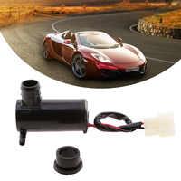 Bomba de lavado de líquido para parabrisas de Motor de coche, Motor y ojal de goma para Ford de 12V, Jeep, VW, Kia, Nissan, Ford, Etc. Accesorios para coche
