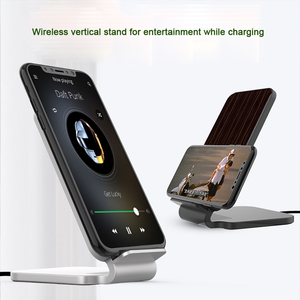 Image 2 - Lantro JS Qi Wireless Charger Stand Wood Fast Charger for iPhone Xs Max and Smartphone with 1M Type C Cable without Adapter