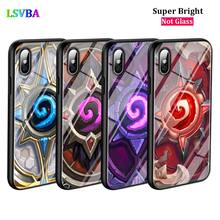 Black Cover Hearthstone classic for iPhone X XR XS Max 8 7 6 6S Plus 5S 5 SE Super Bright Glossy Phone Case