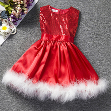 AmzBarley Girls winter Dress Sequined Princess Dress kids Birthday Party outfits Children Sleeveless Toddler Autumn clothes цена в Москве и Питере