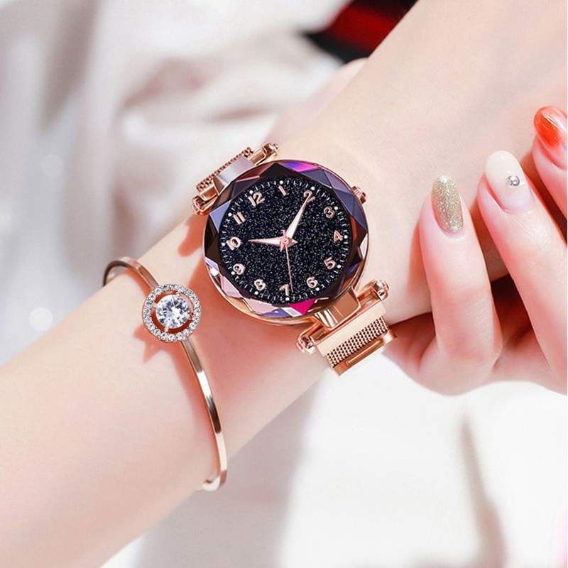 Luminous Watch  Women Watches Fashion Elegant Magnet Buckle Mysterious Wristwatch Starry Sky Clock For Girlfriend Dropshipping 4