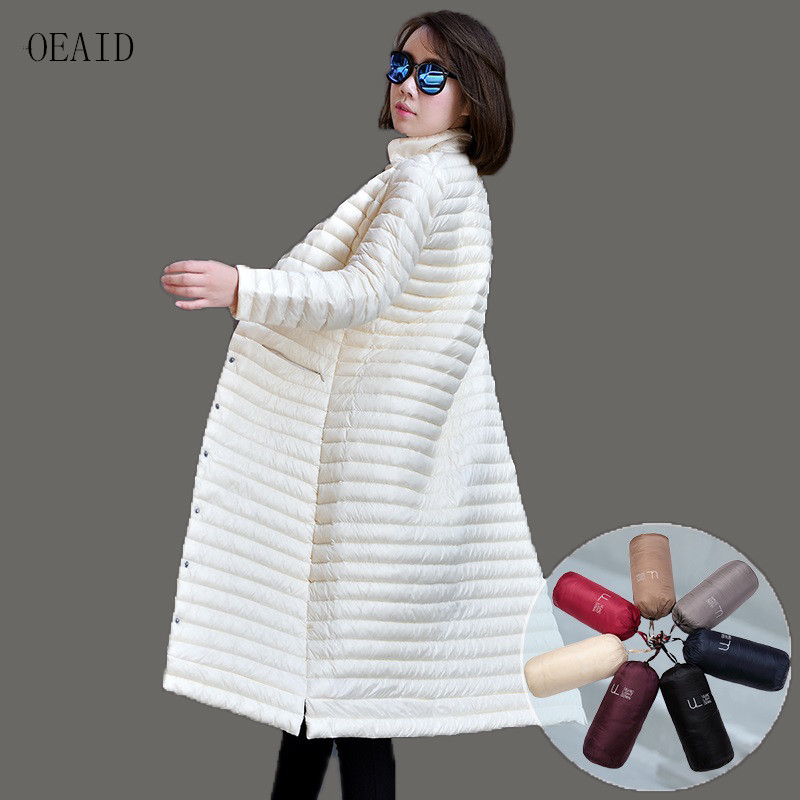 X-long 95% duvet de canard blanc doudoune femme 2019 nouveau duvet femme veste d'extérieur femme duvet manteau femme