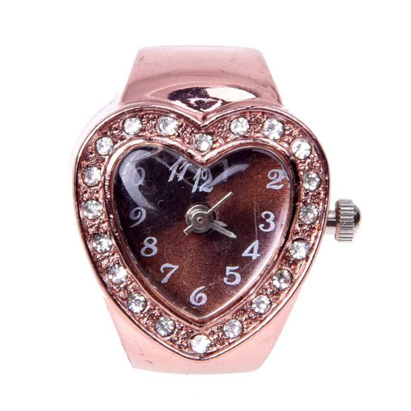20 mm שעון טבעת אצבע שעון טבעת עלה זהב
