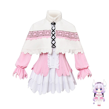 High Quality Anime Miss Kobayashi's Dragon Maid Cosplay Costume Kanna Kamui Dress Outfit Halloween Party Costumes for Women 1